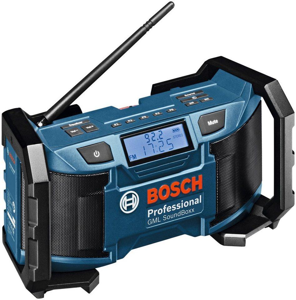 Baustellenradio »GML SoundBoxx solo« in blau