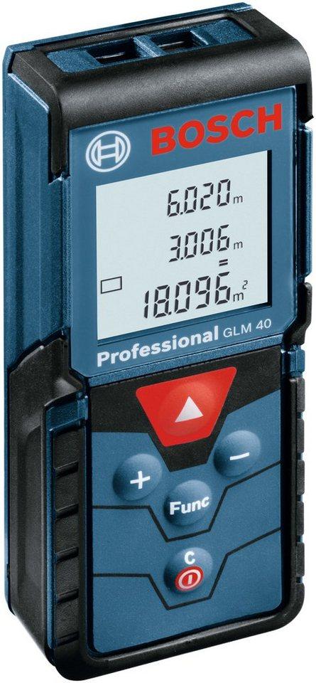 Laser-Entfernungsmesser »GLM 40« in blau