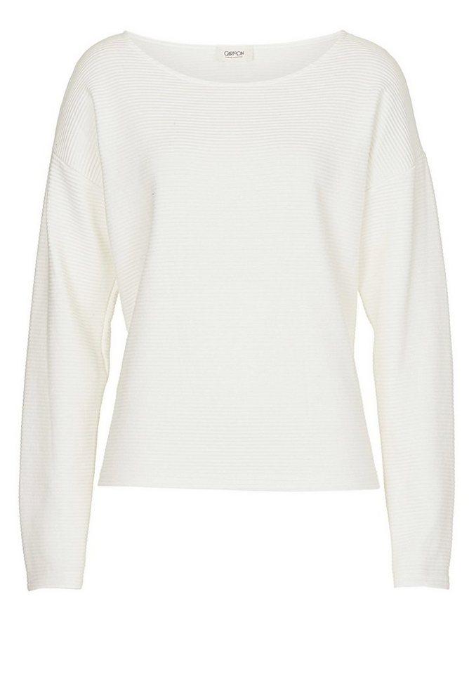 Cartoon Sweatshirt in Rohweiß - Weiß