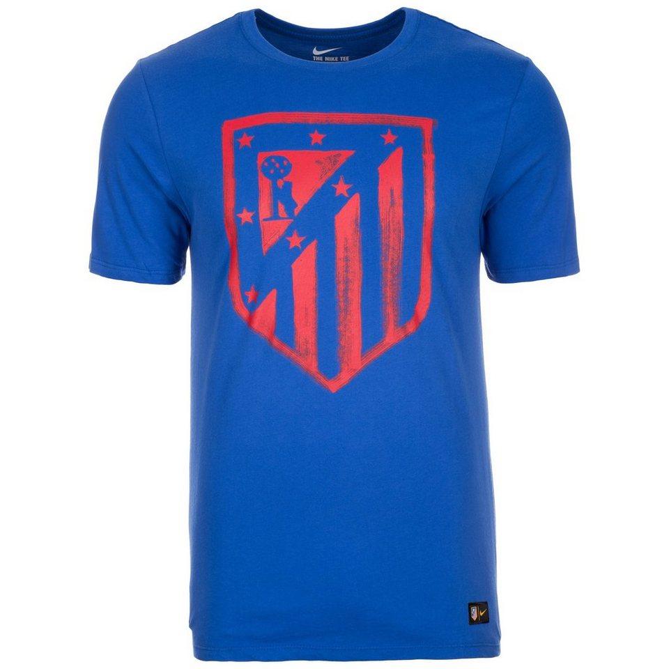 NIKE Atletico Madrid Crest T-Shirt Herren in blau / rot