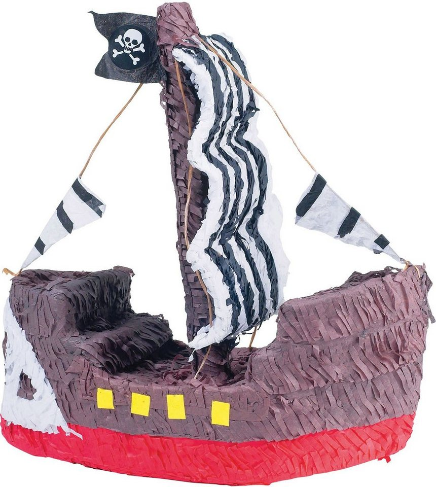 Amscan Pappmaché Figur, »Pinata Piratenschiff«