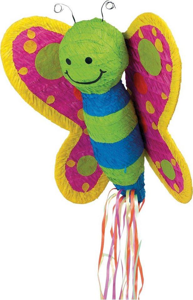 Amscan Pappmaché Figur, »Pull Pinata Schmetterling«