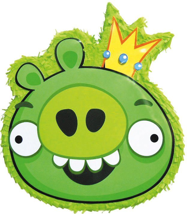Amscan Pappmaché Figur, »Pinata Angry Birds Green Pig«