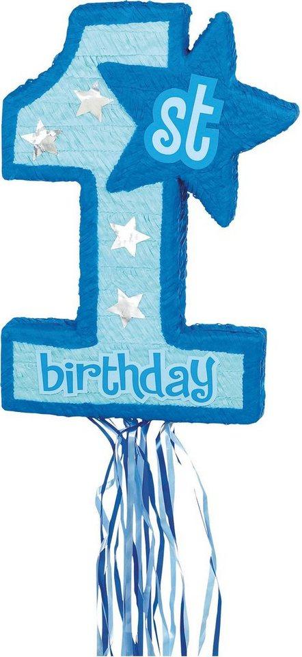 Amscan Pappmaché Figur, »Pinata 1st Birthday blau«
