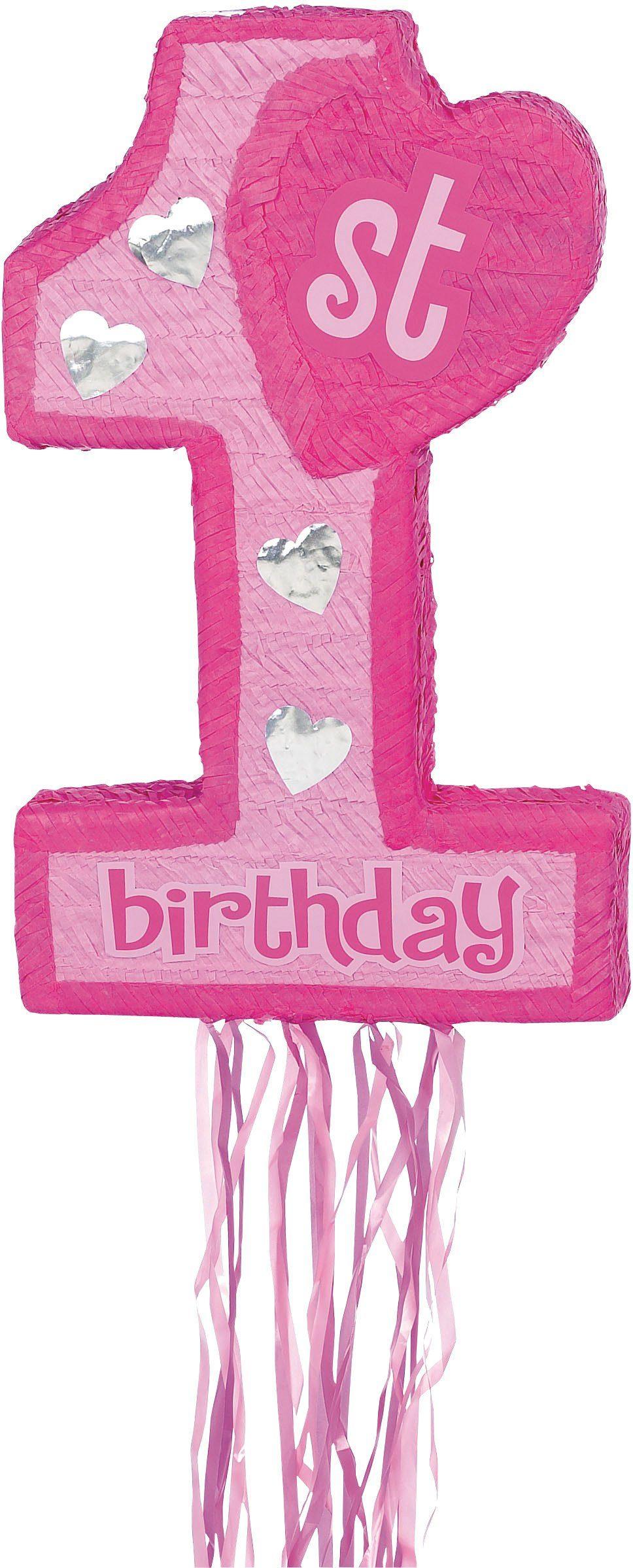 Amscan Pappmaché Figur, »Pinata 1st Birthday rosa«