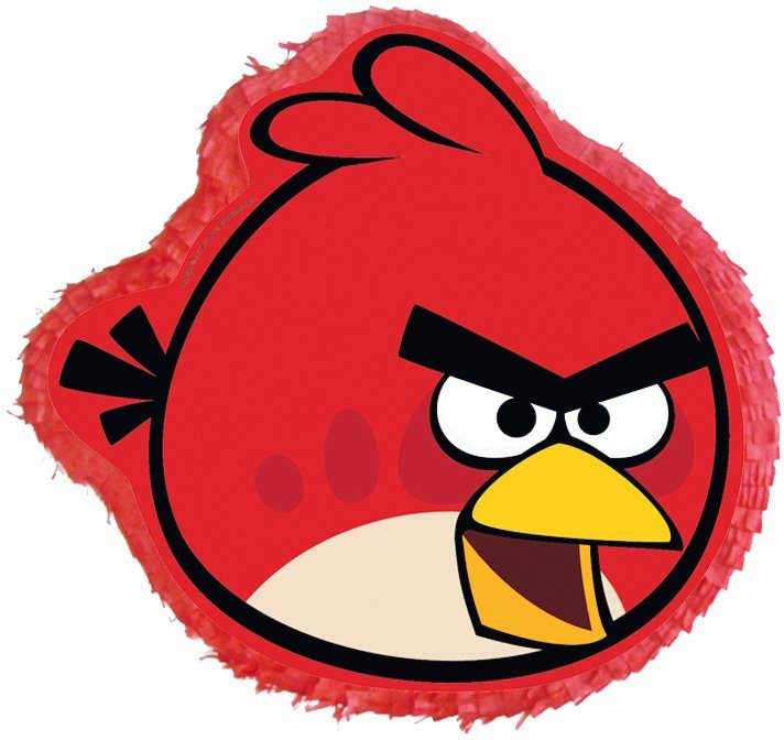 Amscan Pappmaché Figur, »Pinata Angry Birds Red Bird«