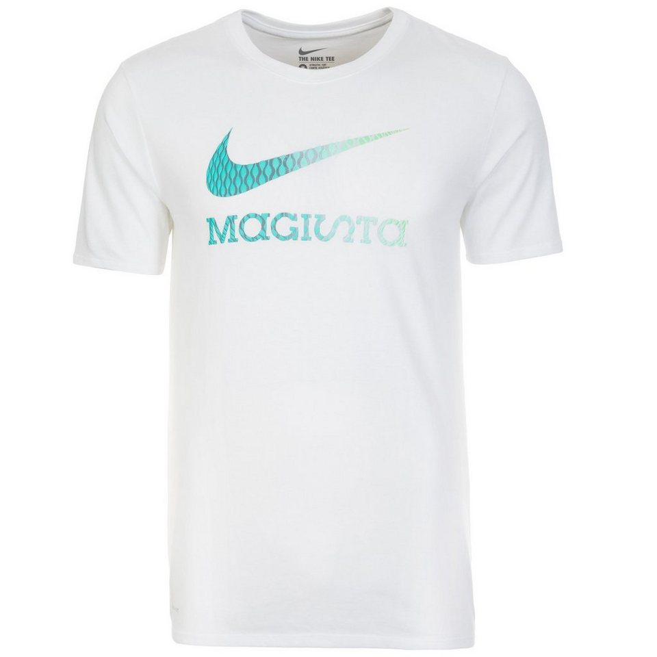 NIKE Branded Boot Magista T-Shirt Herren in weiß / türkis
