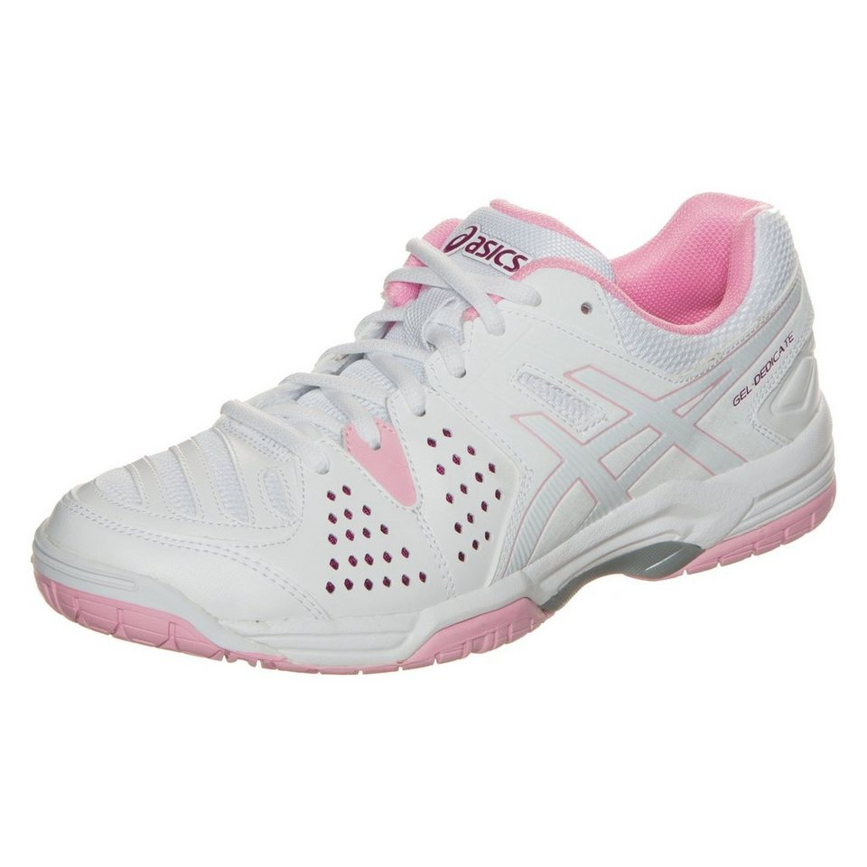 ASICS Gel-Dedicate 4 Tennisschuh Damen in weiß / rosa