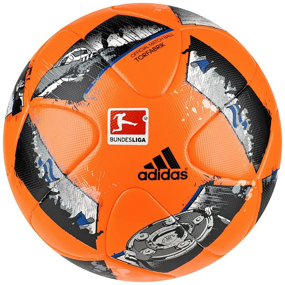 adidas Performance Torfabrik Offizieller Matchball Winter 2016/2017 in neonorange / schwarz