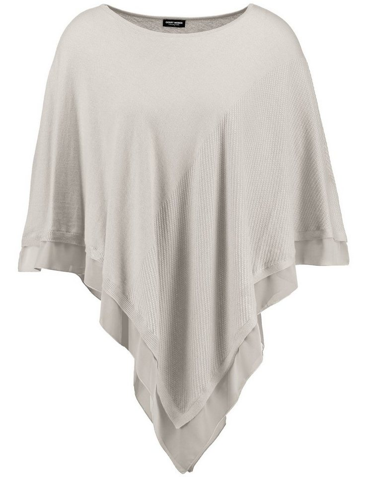 Gerry Weber Cape / Poncho Strick »Poncho in Triangelform« in Stein