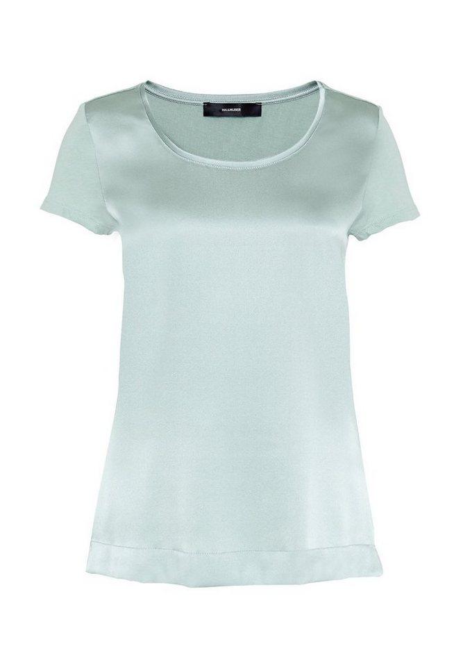 HALLHUBER T-Shirt im Fabric-Mix in mint