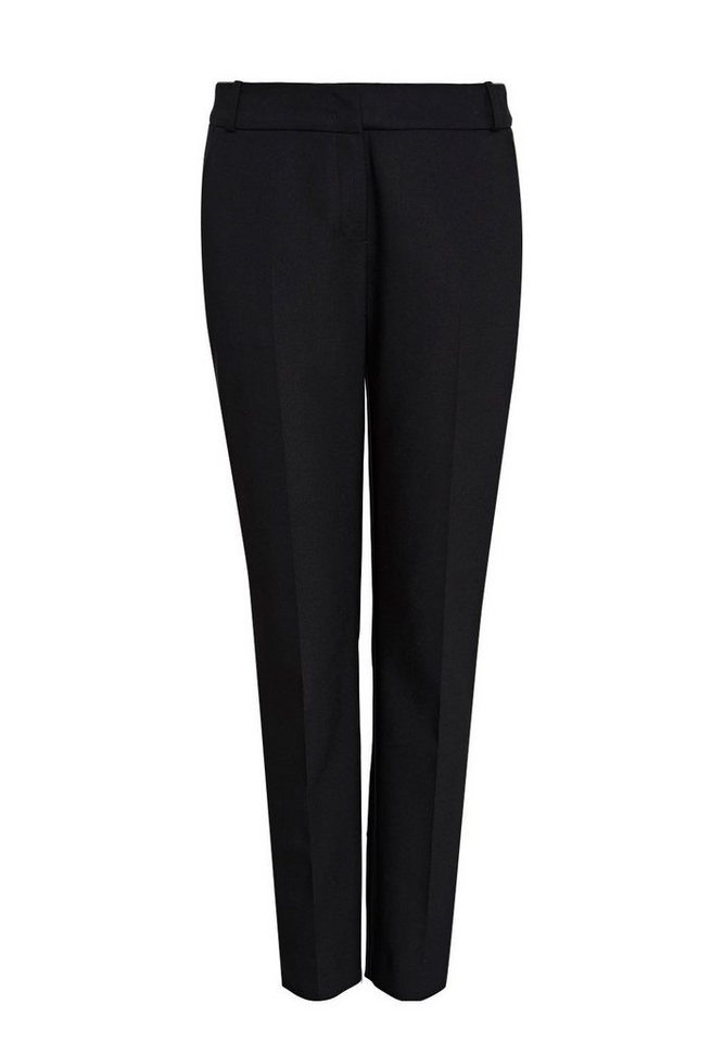 HALLHUBER Hose mit seitlichen Schlitzen in schwarz