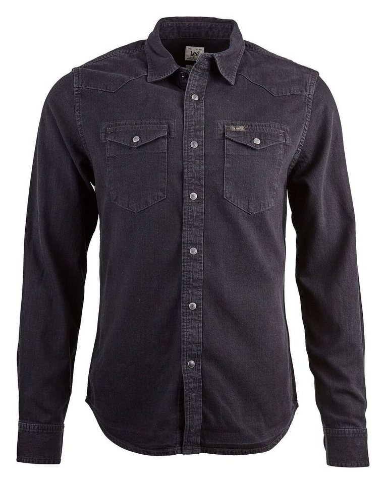 Lee Jeanshemd »LEE WESTERN SHIRT PITCH BLACK« in schwarz