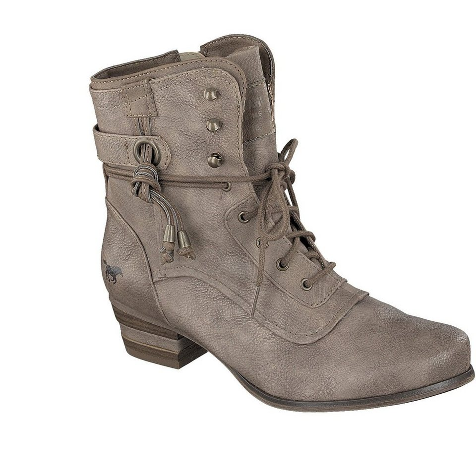 MUSTANG SHOES Schnür-Stiefelette in taupe
