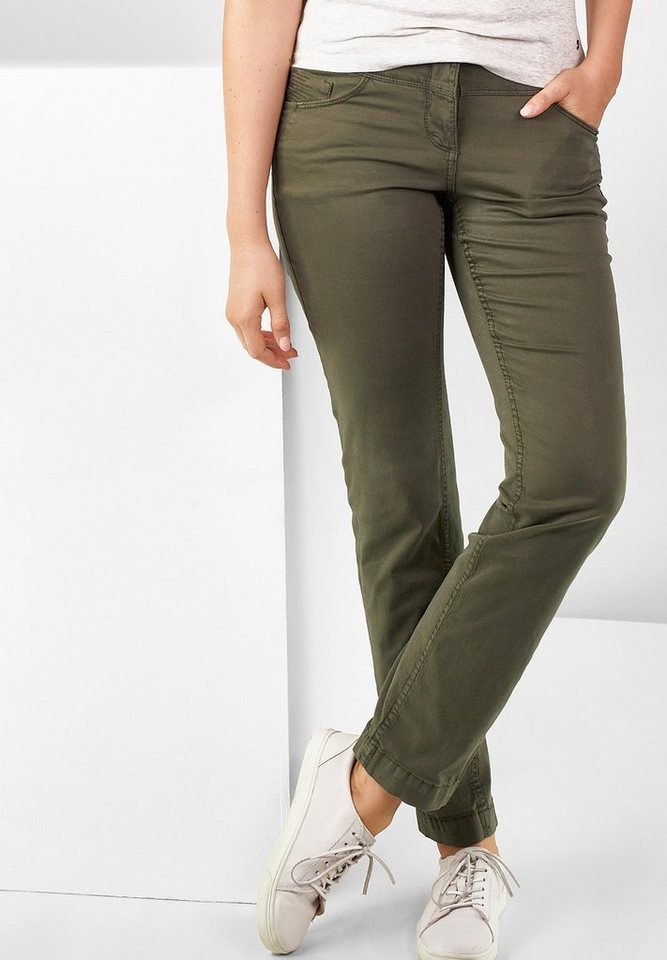 CECIL Regular Fit Hose Janet in deep_olive