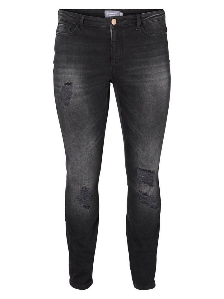 JUNAROSE JRFIVE Jeans in Dark Grey Denim