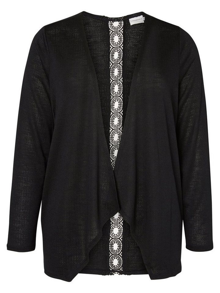 JUNAROSE Langärmelige Strickjacke in Black
