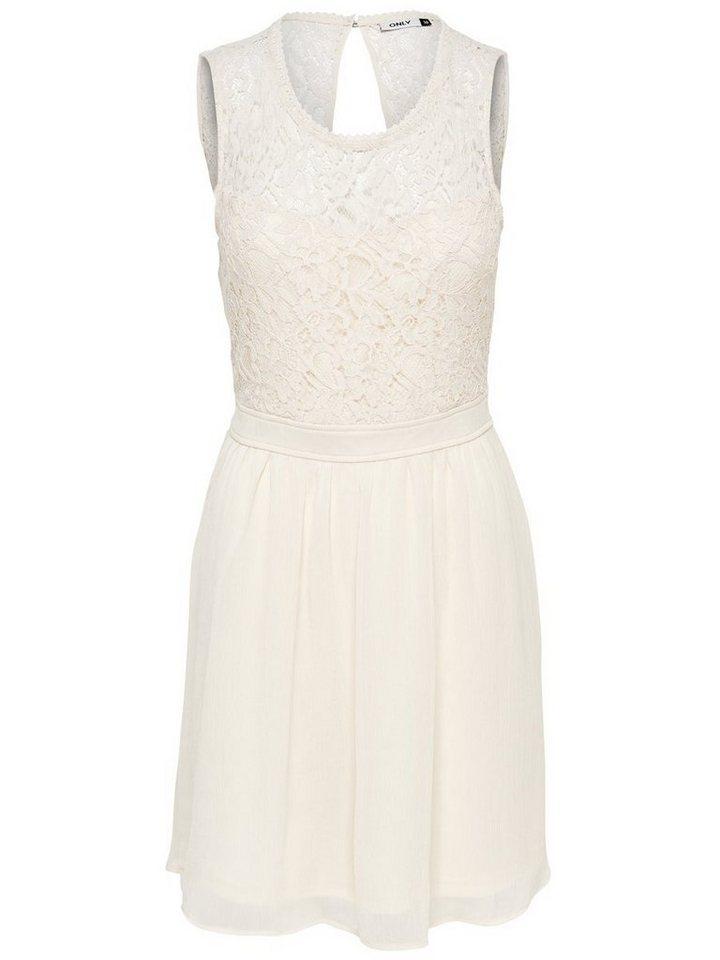 Only Ärmelloses Spitzen- Kleid in Whitecap Gray