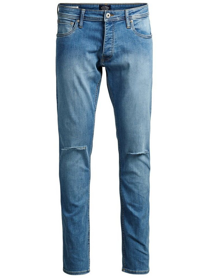 Jack & Jones Glenn Original AM 115 Slim Fit Jeans in Blue Denim