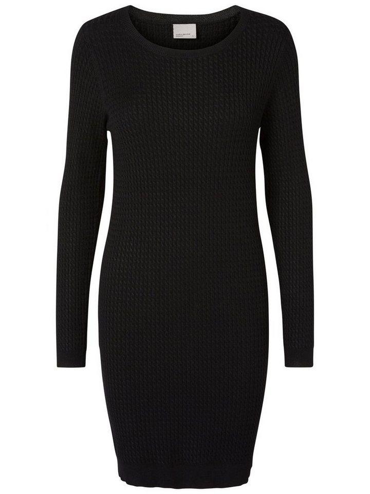 Vero Moda Gestricktes Kleid mit langen Ärmeln in Black