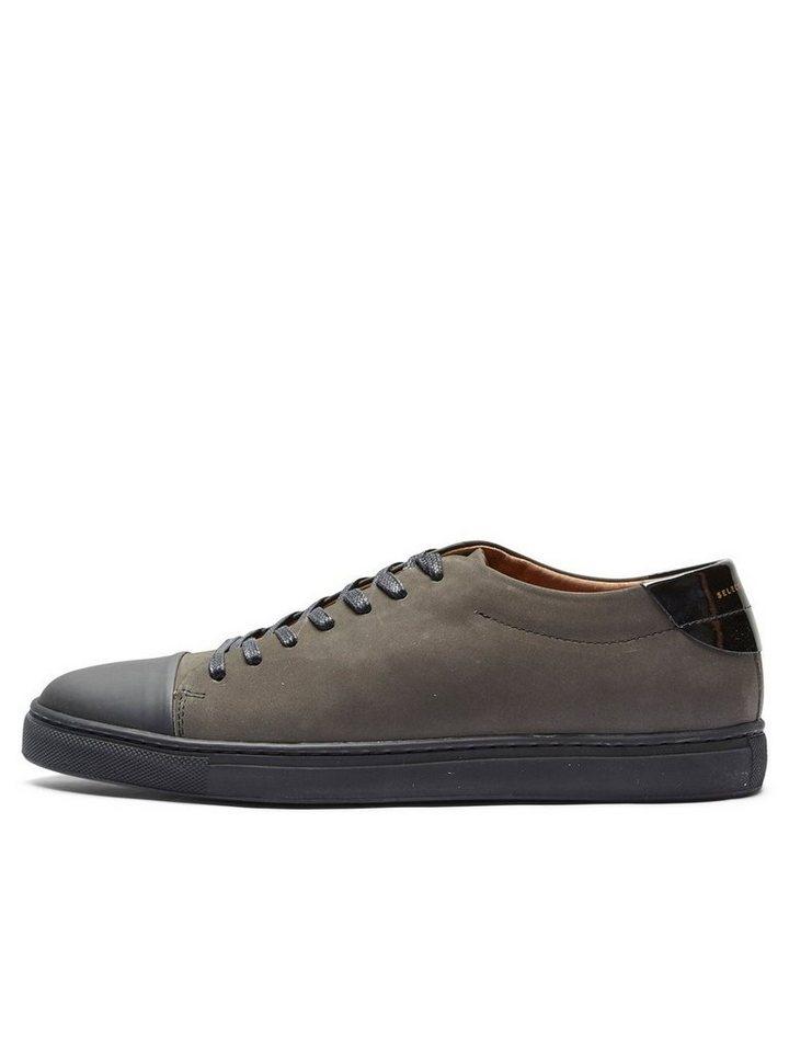 Selected Leder- Sneaker in Dark Grey