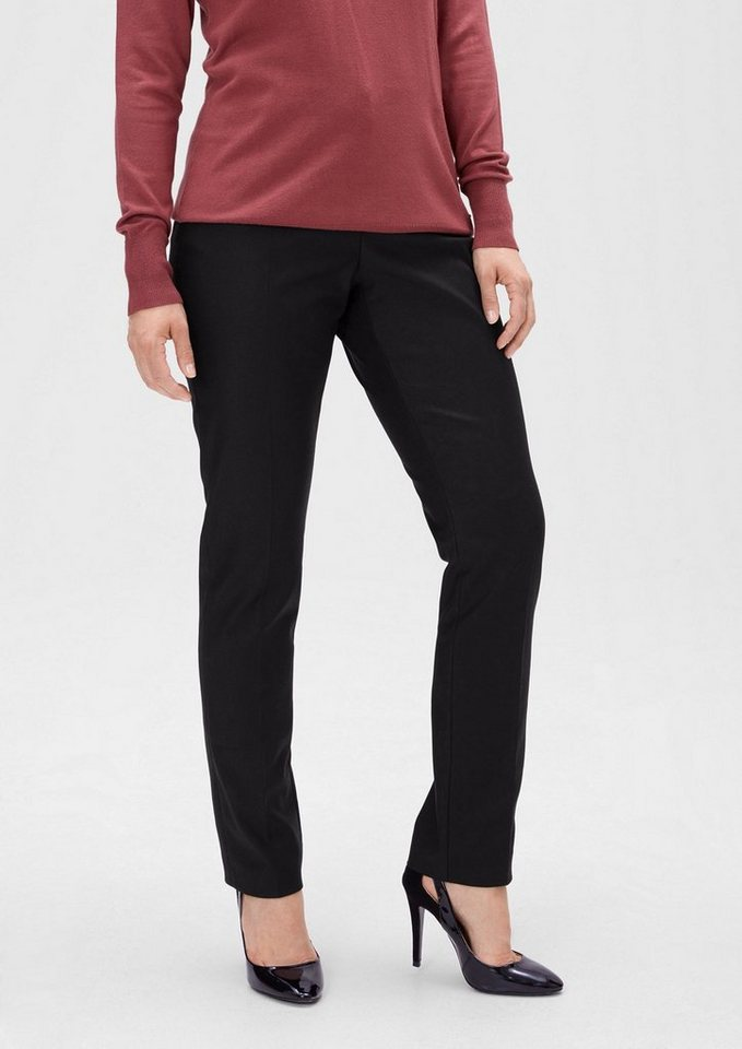 TRIANGLE Twillhose im Business-Look in black