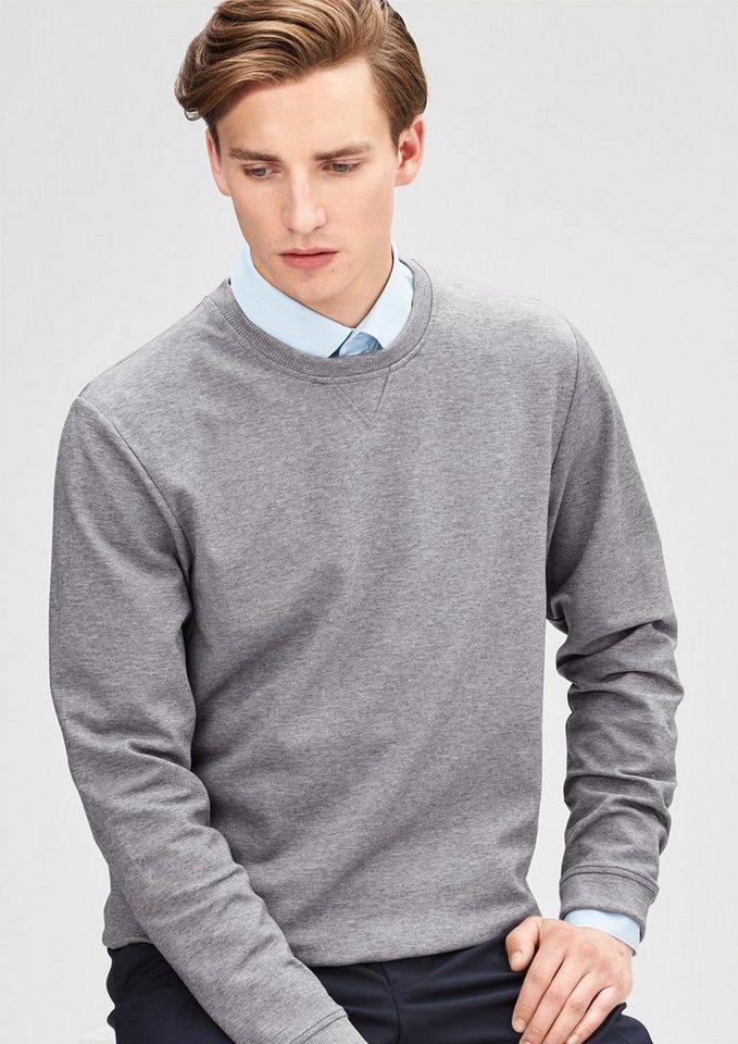 s.Oliver BLACK LABEL Sweatshirt aus edlem Material in classy grey melange