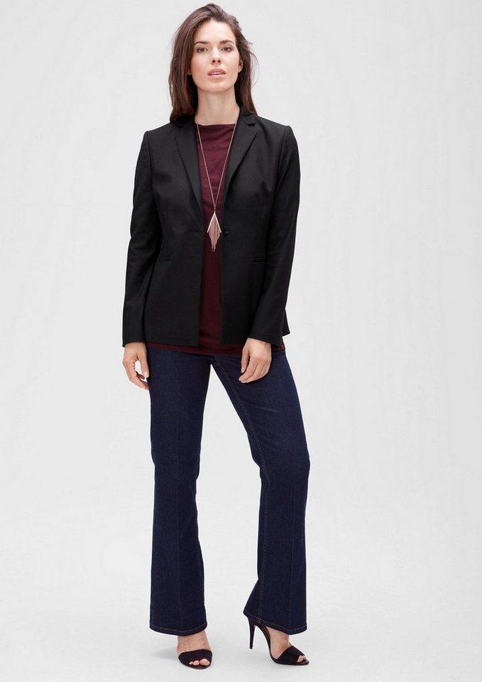 TRIANGLE Stretch-Blazer aus Twill in black