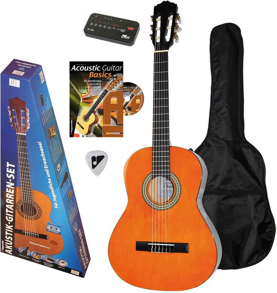 Voggenreiter Gitarrenset, »Akustikgitarren Set 4/4« in naturfarben