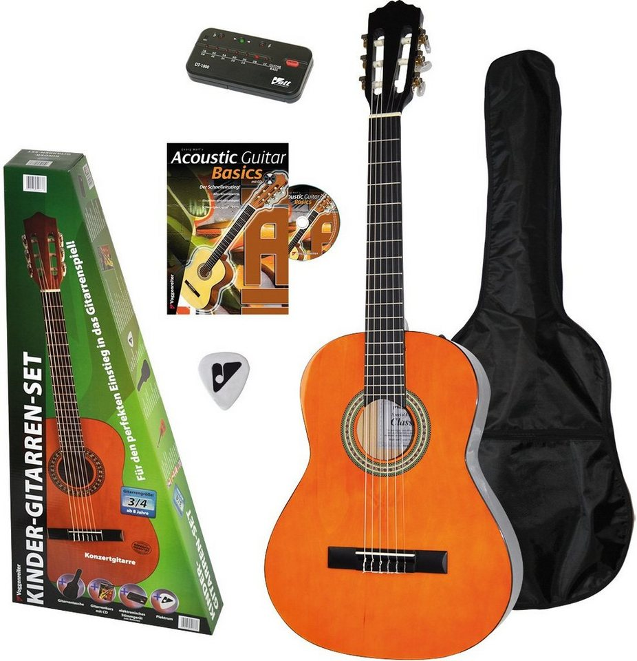 Voggenreiter Gitarrenset, »Kinder Gitarren Set 3/4« in naturfarben