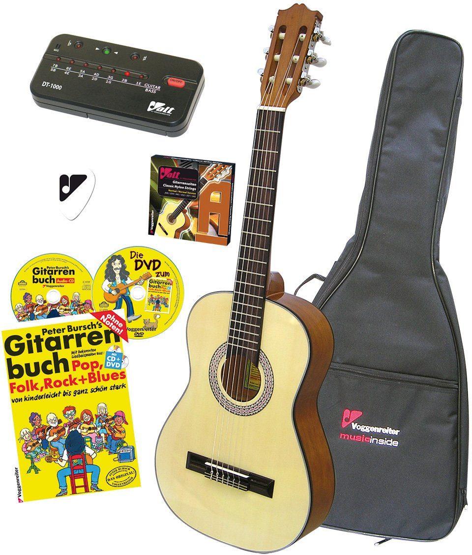 Voggenreiter Akustikgitarre »VOLT Akustikgitarren Set 4/4« 4/4, Komplettset