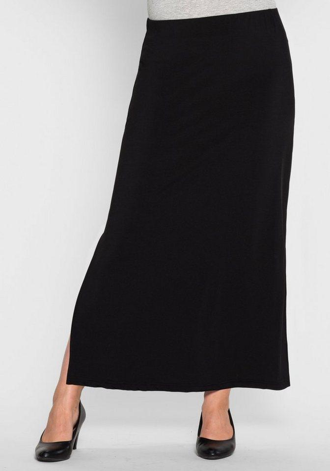 sheego Style Maxirock in schwarz