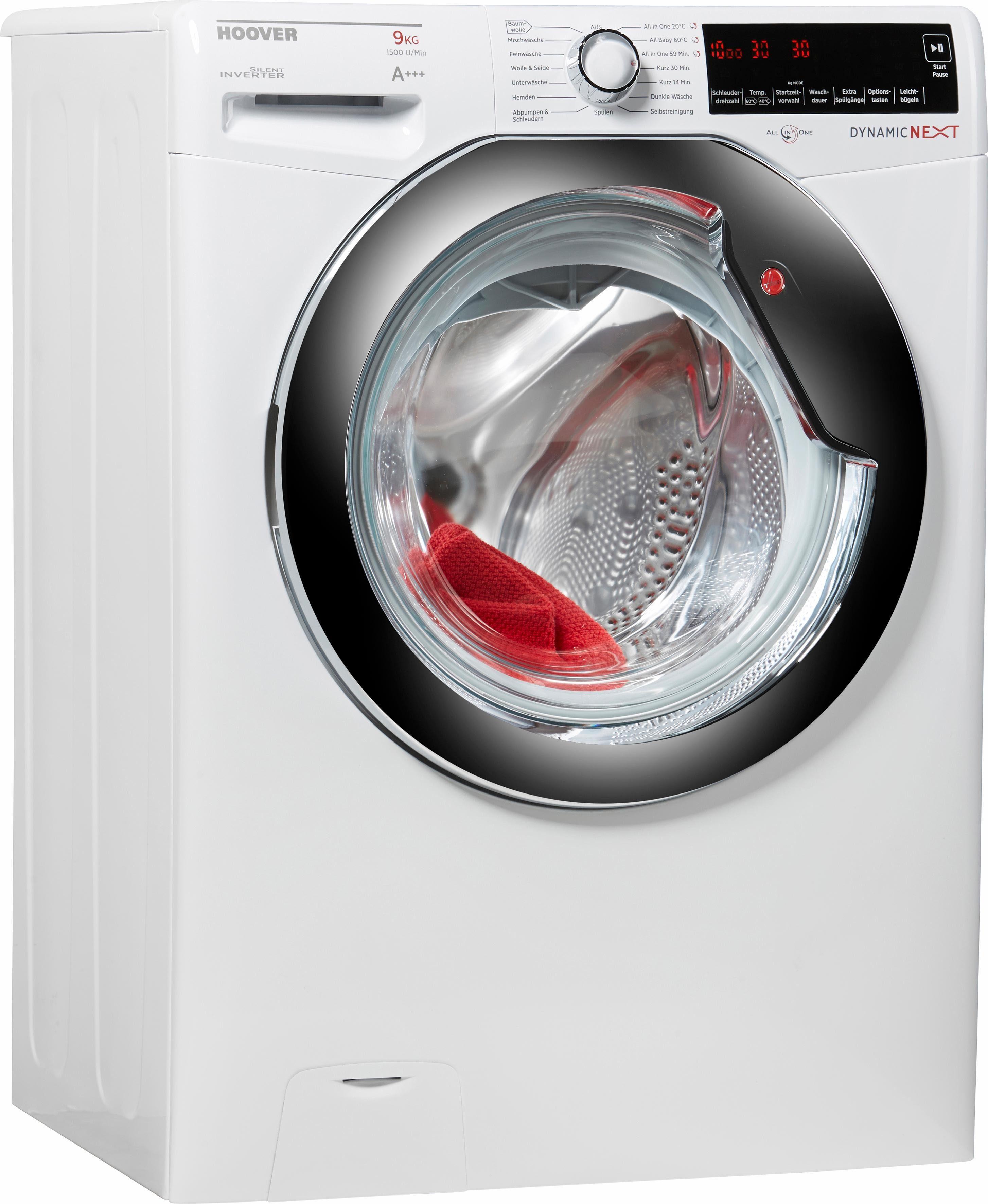 Hoover Waschmaschine DXA 59 AH, A+++, 9 kg, 1500 U/Min