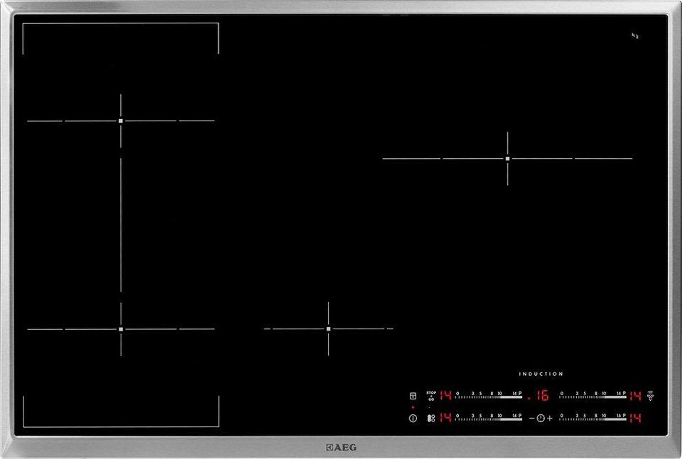 AEG autarkes Induktions-Kochfeld HKL85410 XB in Edelstahlrahmen