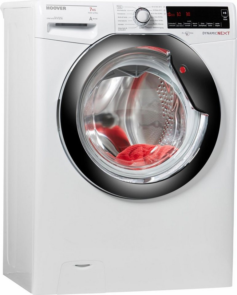 Hoover Waschmaschine DXA 57 AH, A+++, 7 kg, 1500 U/Min in weiß