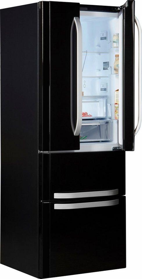 Bauknecht Compact French Door KSN 19 A2+ SW, Energieklasse A++, 195 cm hoch, NoFrost in schwarz