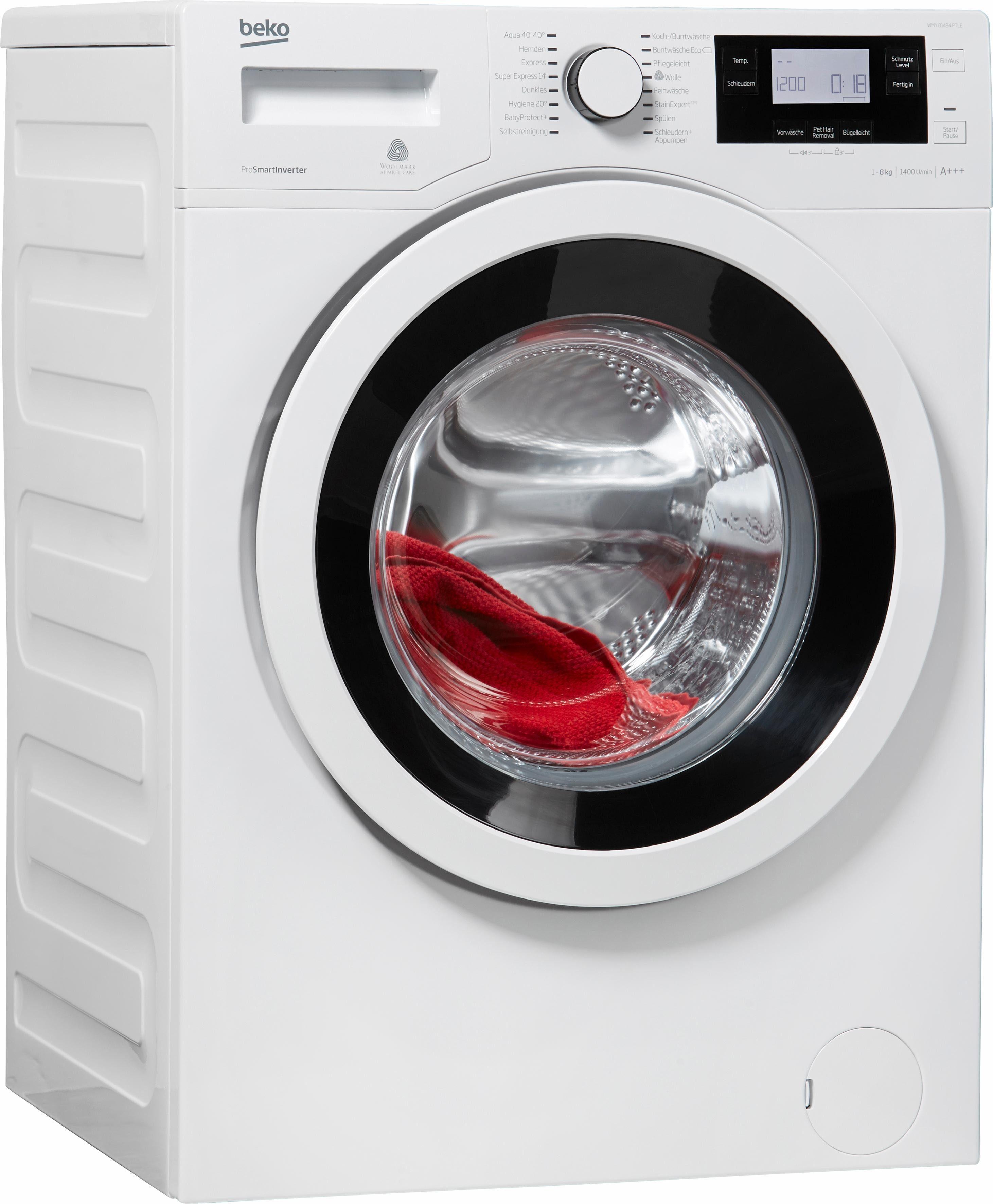 BEKO Waschmaschine WMY 81494 PTLE, A+++, 8 kg, 1400 U/Min