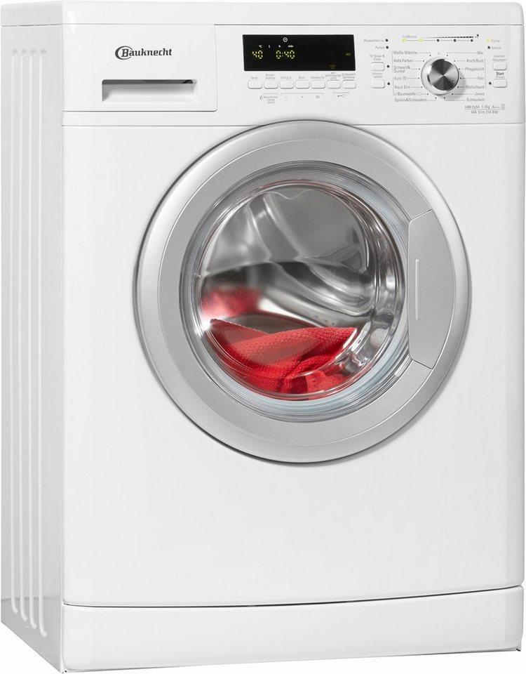 BAUKNECHT Waschmaschine WA Slim 714 BW, A+++, 7 kg, 1400 U/Min in weiß