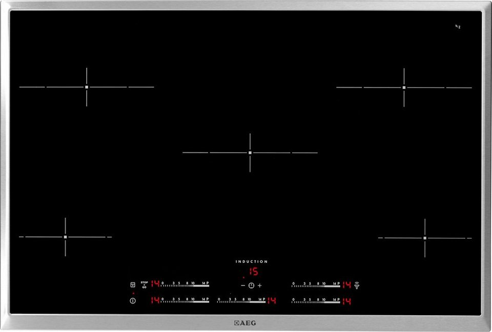 AEG autarkes Induktions-Kochfeld HDM55108 XB in Edelstahlrahmen