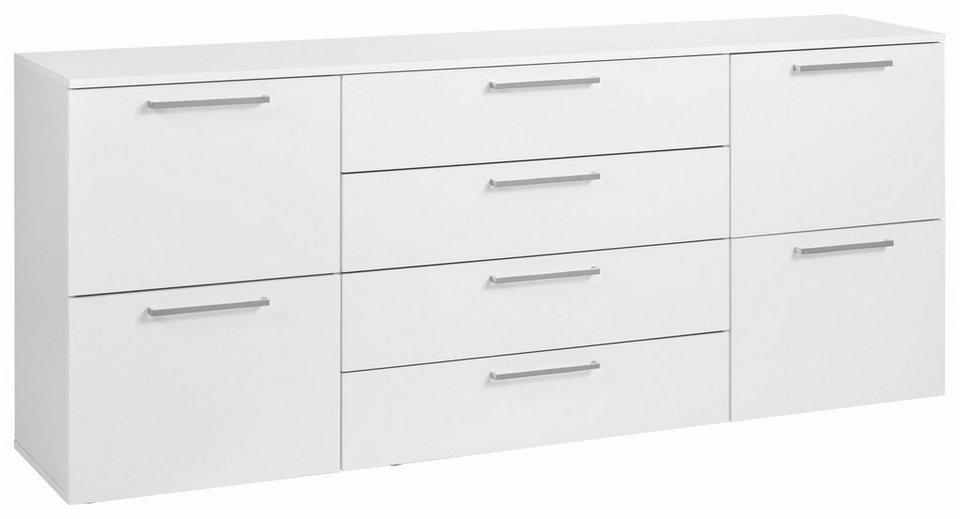 Sideboard, »Lilly« Breite 166 cm in weiß/weiß matt