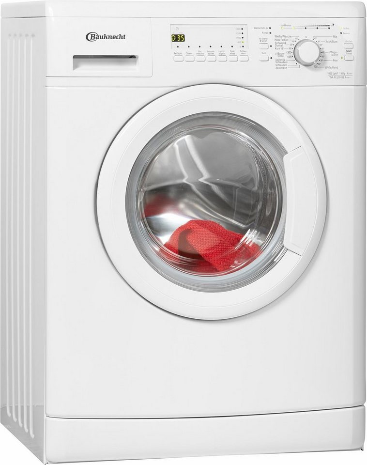 BAUKNECHT Waschmaschine WA PLUS 636 A+++, A+++, 6 kg, 1600 U/Min