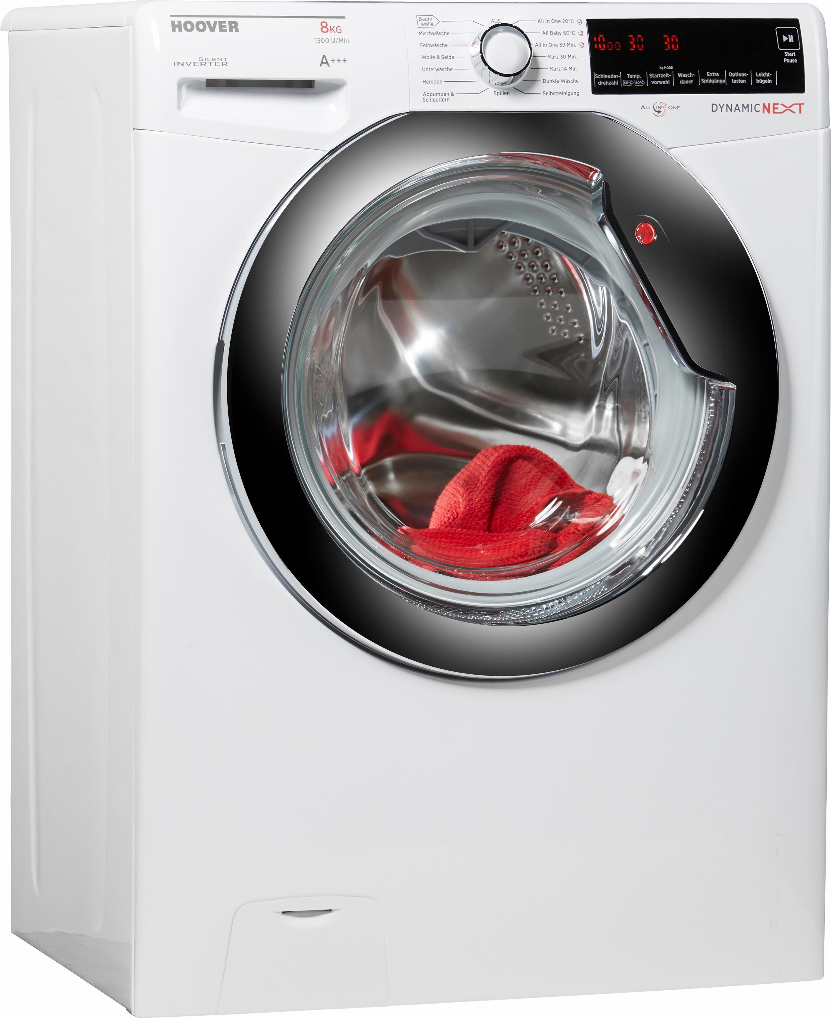 Hoover Waschmaschine DXA 58 AH, A+++, 8 kg, 1500 U/Min
