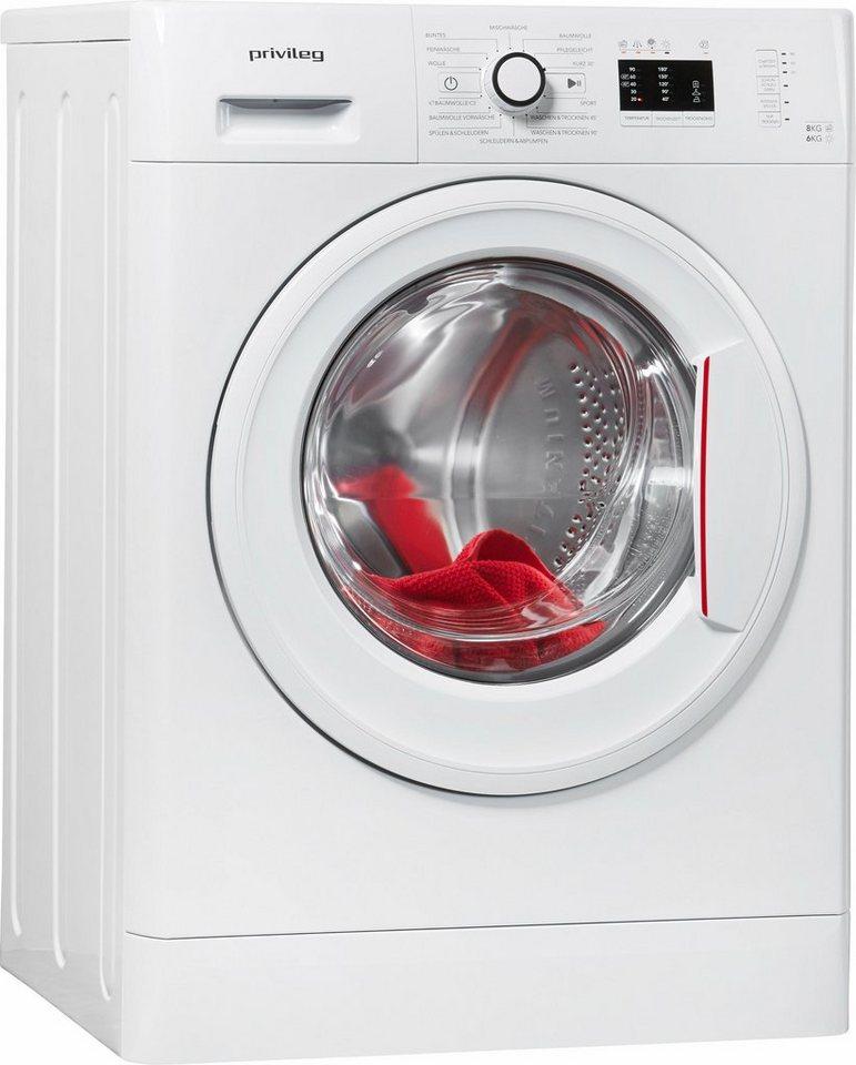 Privileg Waschtrockner PWWT 8614, A, 8 kg / 6 kg, 1400 U/Min in weiß