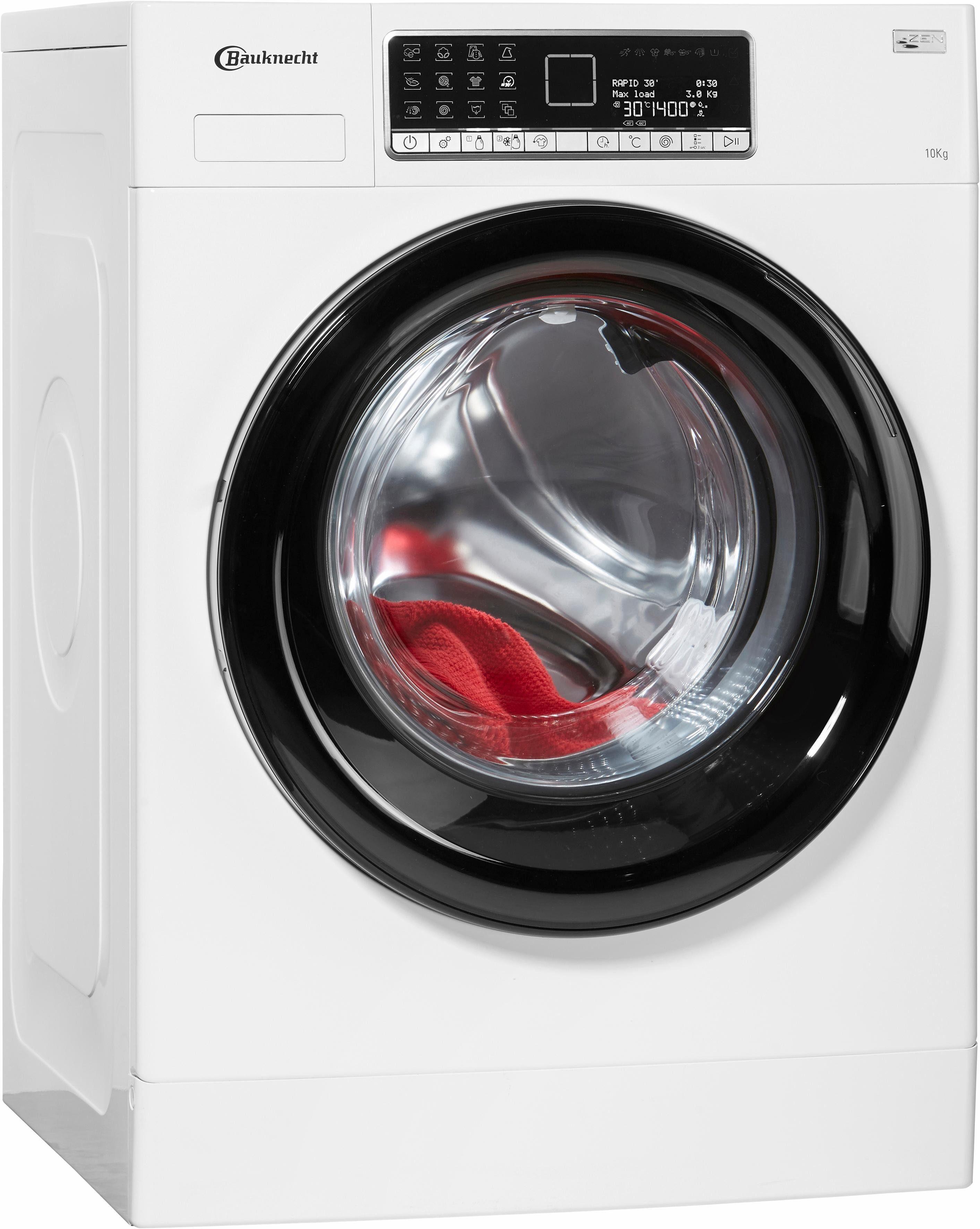 BAUKNECHT Waschmaschine WM Style 1024 ZEN, A+++, 10 kg, 1400 U/Min