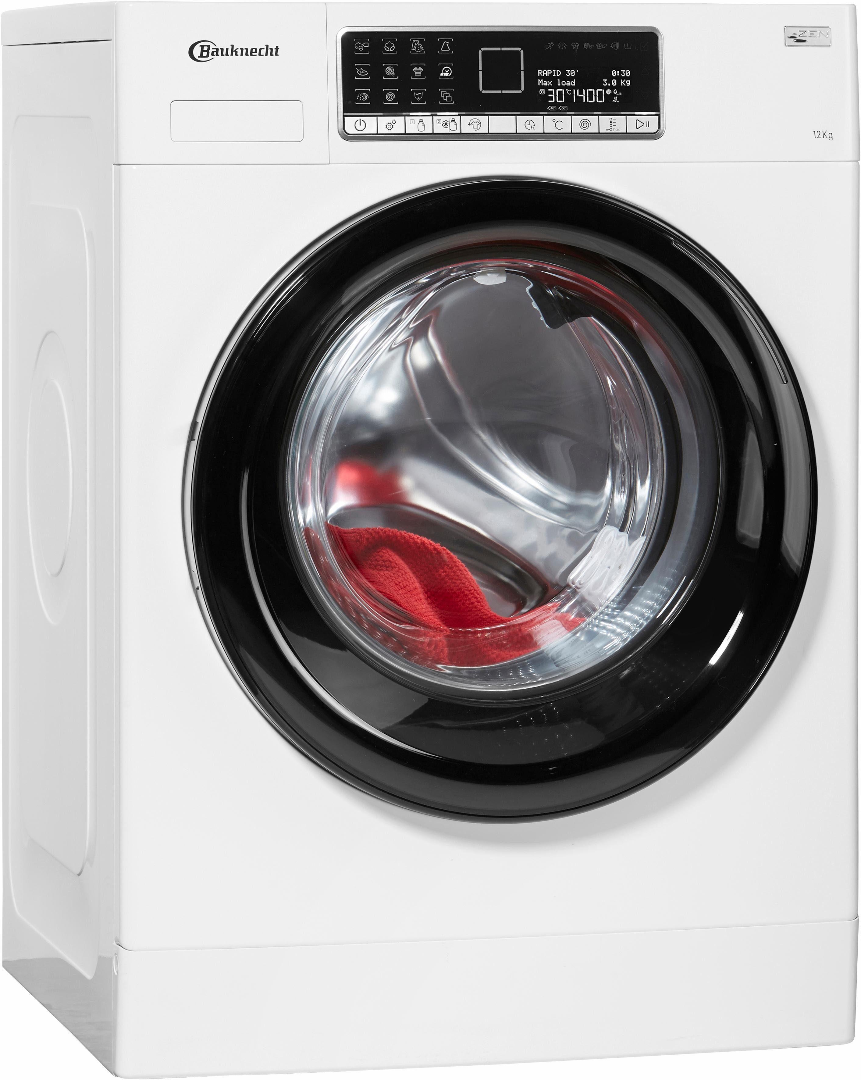 BAUKNECHT Waschmaschine WA Prime 1254 Z, A+++, 12 kg, 1400 U/Min