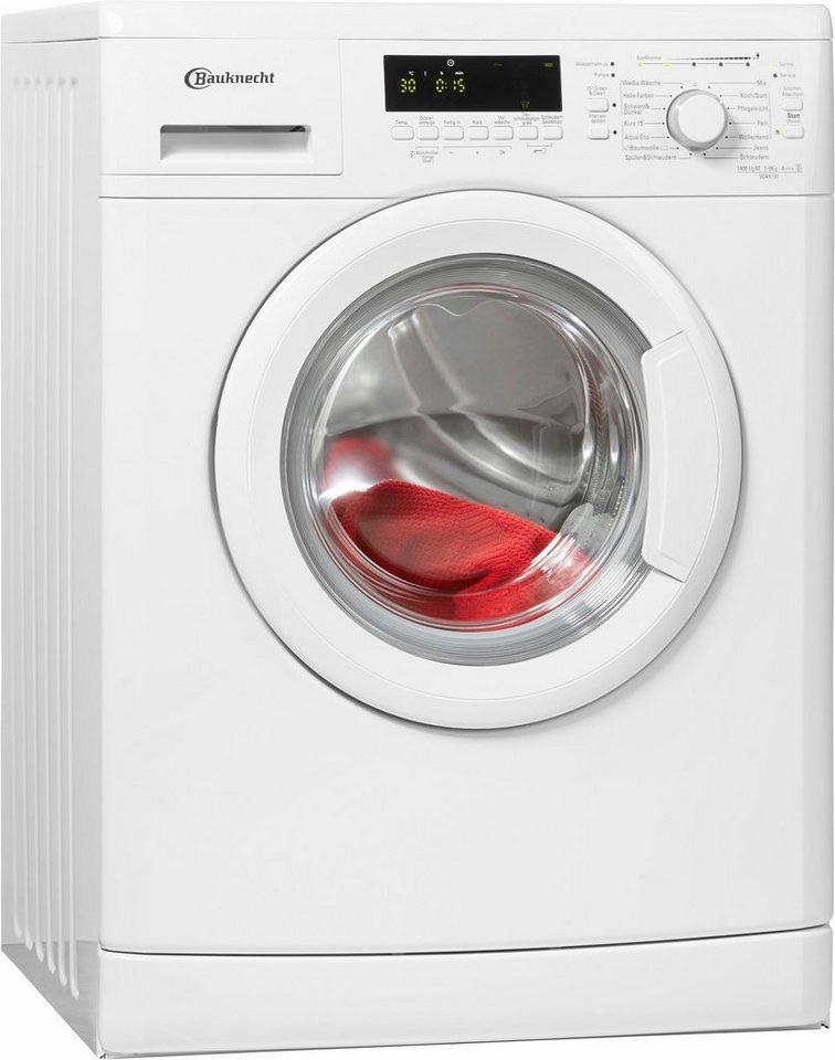 BAUKNECHT Waschmaschine WAK 91, A+++, 9 kg, 1400 U/Min in weiß