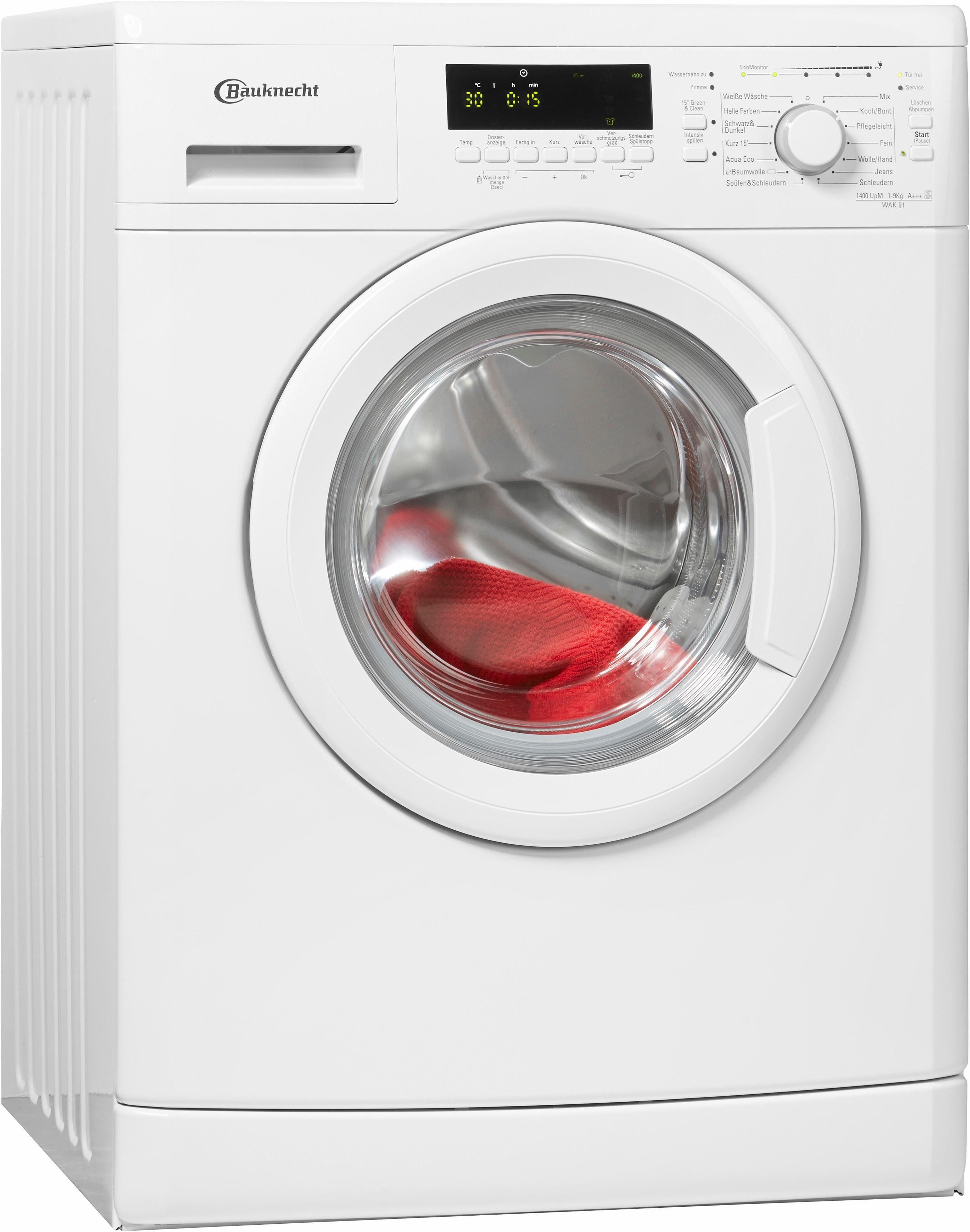 BAUKNECHT Waschmaschine WAK 91, A+++, 9 kg, 1400 U/Min