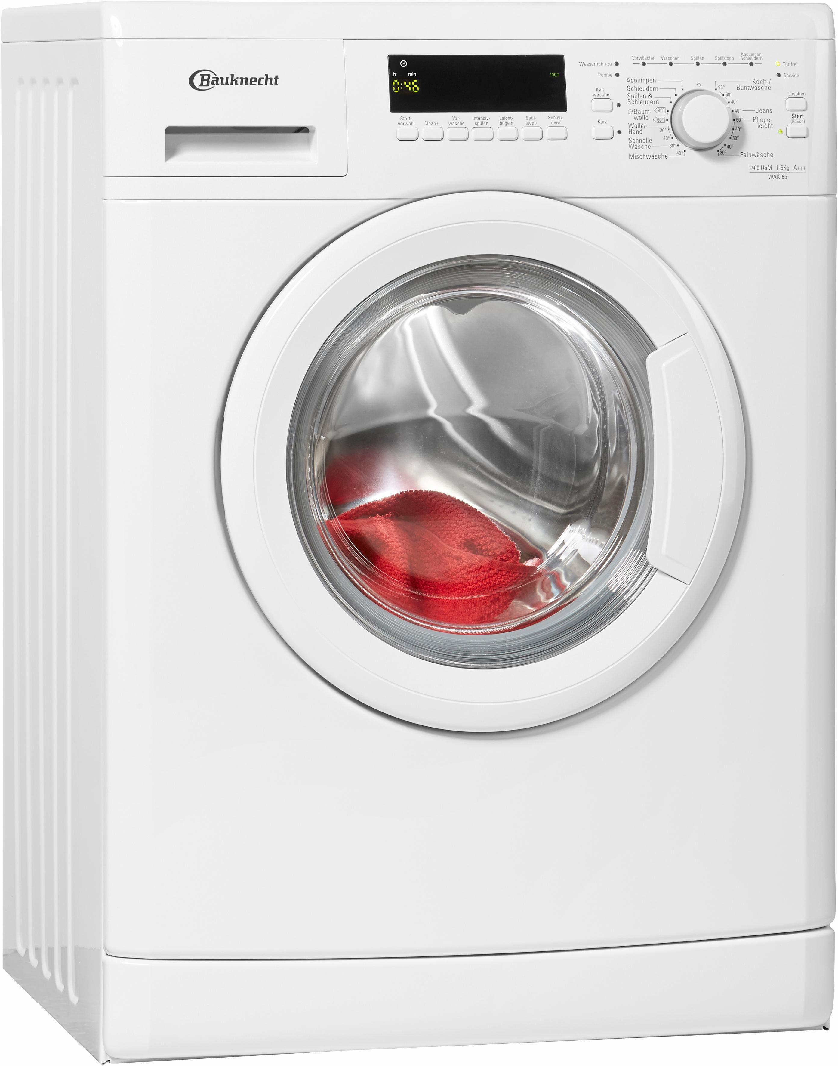 BAUKNECHT Waschmaschine WAK 63, 6 kg, 1400 U/Min