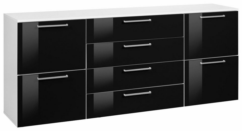 kommode in schwarz fabulous amazing nur with sideboard wei schwarz with kommode in schwarz. Black Bedroom Furniture Sets. Home Design Ideas