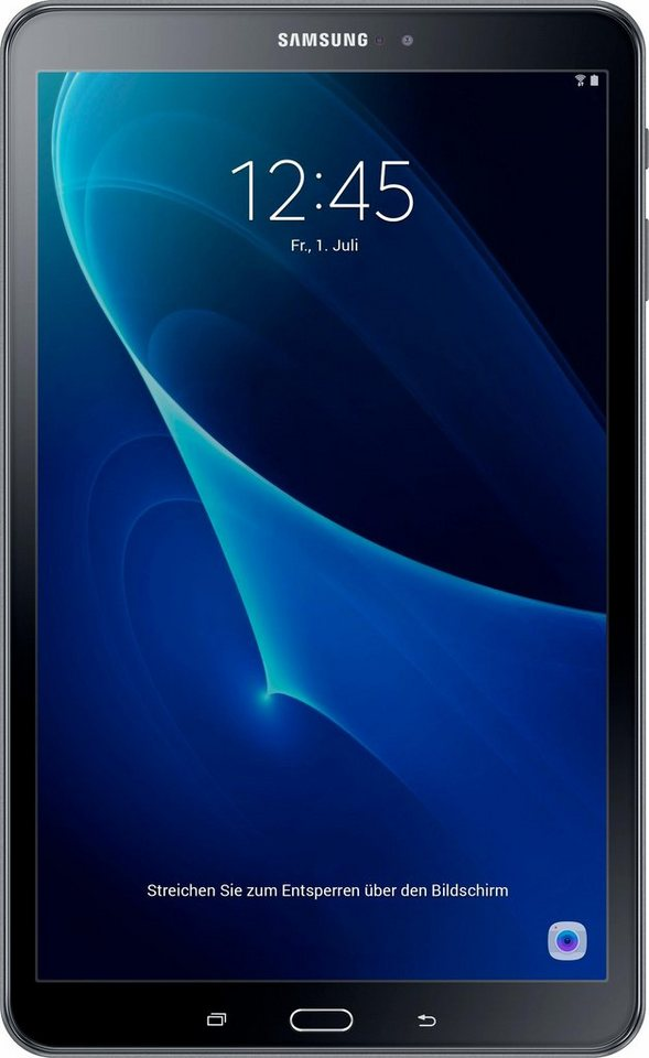 Samsung Galaxy Tab A 10.1 (WiFi) Tablet-PC, Android 6.0, Octa-Core, 25,5 cm (10,1 Zoll) in schwarz